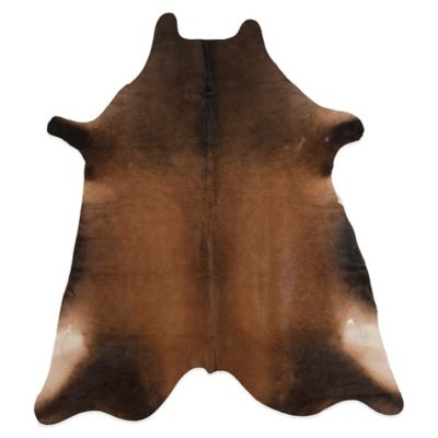 Safavieh Gaucho 4-Foot 6-inch x 6-Foot 6-Inch Cowhide Rug in Tan