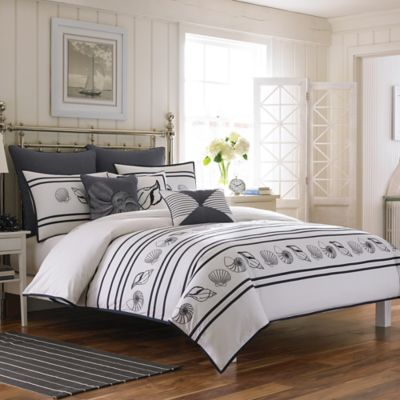 Croscill® Montego Bay Twin Duvet Cover in White