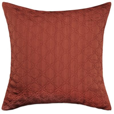 MYOP Simple Clover Square Throw Pillow Cover in Rust