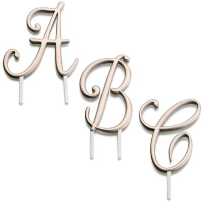 "Lillian Rose™ Gold Monogram Letter ""A"""
