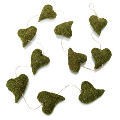 Lillian Rose™ Moss Heart Garland