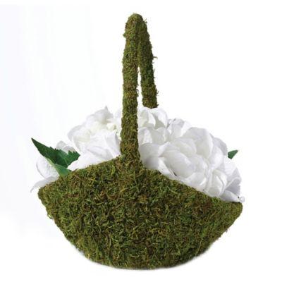 Lillian Rose™ Moss Flower Basket