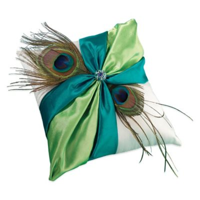 Lillian Rose™ Peacock Ring Pillow