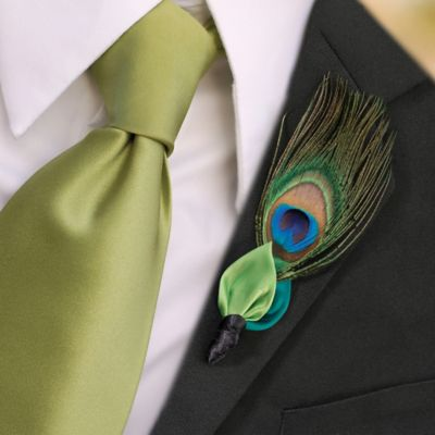 Lillian Rose™ Peacock Boutonniere