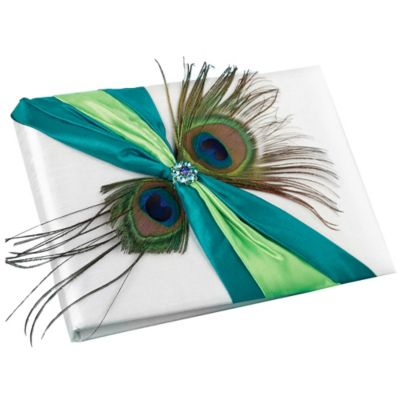 Lillian Rose™ Peacock Feather Guest Book