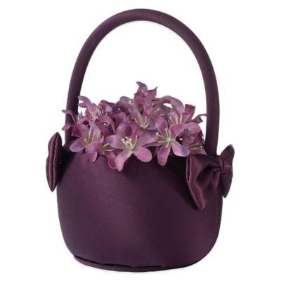 Lillian Rose™ Flower Basket in Plum