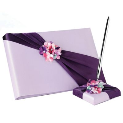 Purple Guest Book