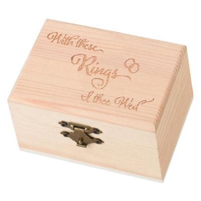 "Lillian Rose™ ""With these Rings"" Ring Bearer Box"