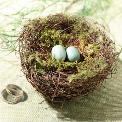 Lillian Rose™ Moss Bird Nest Ring Holder