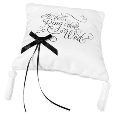 "Lillian Rose™ ""With this Ring, I Thee Wed"" Ring Pillow"