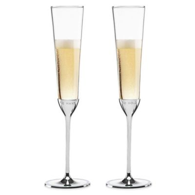kate spade new york Take the Cake Toasting Flutes (Set of 2)