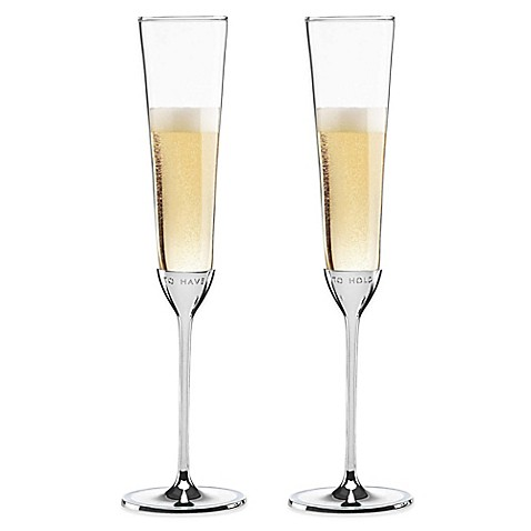 Kate Spade New York Take The Cake Toasting Flutes Set Of