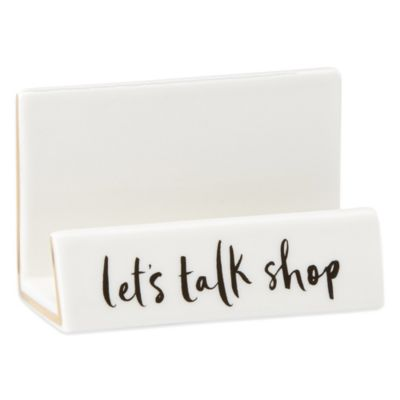 kate spade new york Daisy Place Desktop Buisness Card Holder