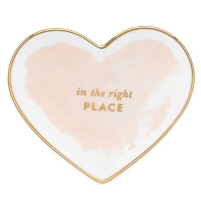 kate spade new york Posy Court Small Heart Dish in Blush