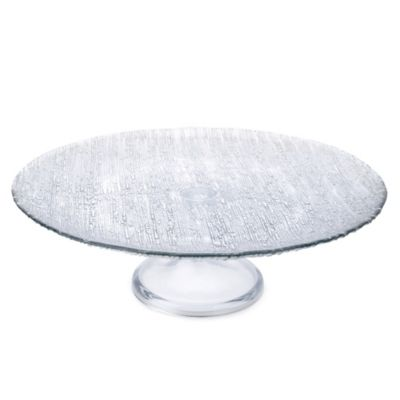 Classic Touch Trophy 13-Inch Glass Pedestal Cake Stand in Silver
