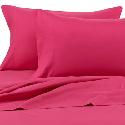 Benzoyl Peroxide-Resistant Microfiber Twin XL Sheet Set in Pink