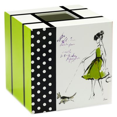 Avanti Couture Girls Boutique Tissue Box Cover