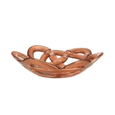 Kosta Boda Small Basket Bowl in Copper