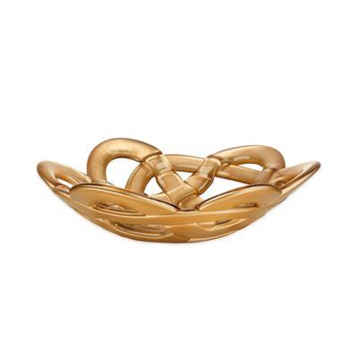 Kosta Boda Small Basket Bowl in Gold