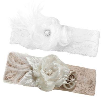 Lillian Rose™ Vintage Lace Wide Garter in White
