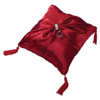 Lillian Rose™ Diamond Ring Pillow in Red