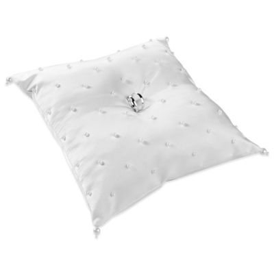 Lillian Rose™ Pearl Ring Pillow in White