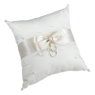 Lillian Rose™ Scattered Pearl Ring Pillow in Ivory