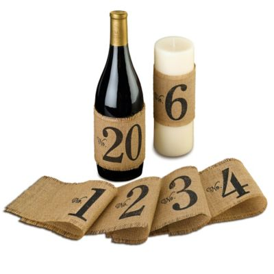 Lillian Rose™ Burlap Table Number Wraps