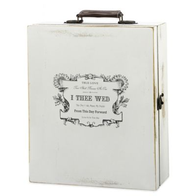 Lillian Rose™ Antique True Love Wine Box in White