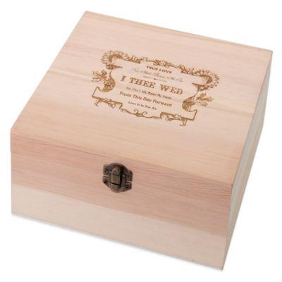 Lillian Rose™ True Love Wooden Card Box