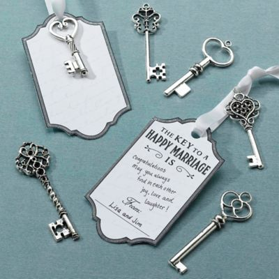Lillian Rose™ Key Tags in Silver (Set of 24)