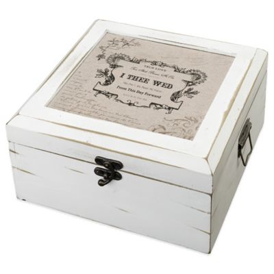 Lillian Rose™ True Love Card Box in Antique White