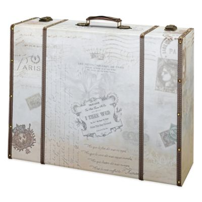 Lillian Rose™ True Love Suitcase Card Box