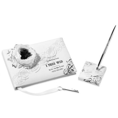 "Lillian Rose™ ""True Love"" Guest Book and Pen Set"