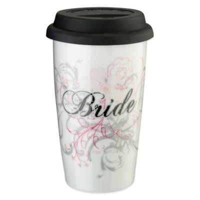 "Lillian Rose™ 12 oz. Ceramic ""Bride"" Tumbler"