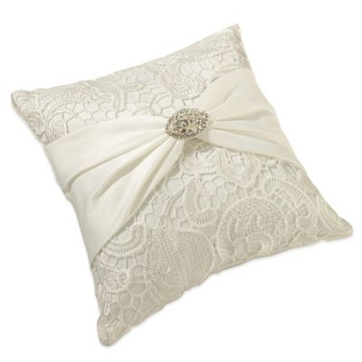 Lillian Rose™ Vintage Lace Ring Pillow in Cream