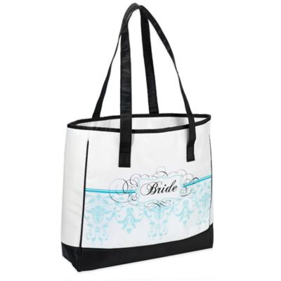 Lillian Rose™ Bride Tote Bag in Aqua