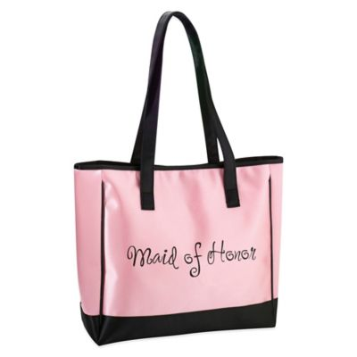 Lillian Rose™ Maid of Honor Tote Bag in Pink/Black