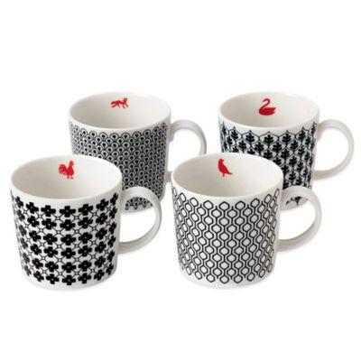 Royal Doulton® Foulard Star Mugs (Set of 4)