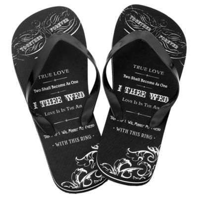 Lillian Rose™ True Love Size 11 Men's Flip-Flops