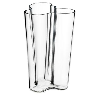 Iittala Alvar Aalto 9.75-Inch Finlandia Vase in Clear