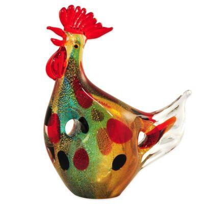 Dale Tiffany™ 9.5-Inch Hanna the Hen Art Glass Figurine