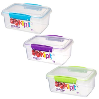 Sistema® KLIP IT® Accents 13 Oz. Food Storage Container in Blue