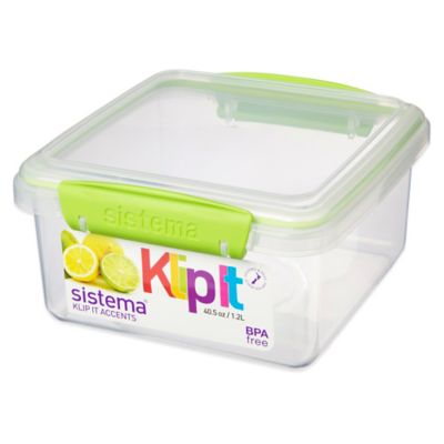 Sistema® KLIP IT® Accents 40 Oz. Food Storage Container in Green