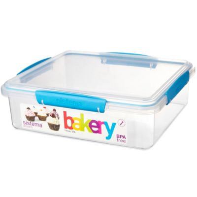 Sistema® KLIP IT® Accents Bakery Box 118 Oz. Food Storage Container in Blue