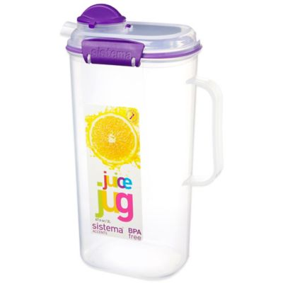 Sistema® KLIP IT® 8-Cup Accents Juice Jug in Blue