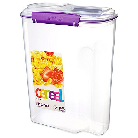 Buy Sistema 174 Klip It 174 4 2 Liter Cereal Container In Purple
