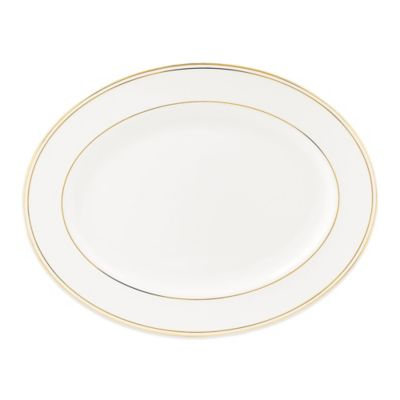Lenox® Federal Gold 16-Inch Oval Platter in White/Gold