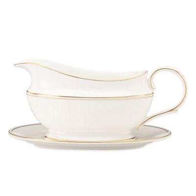 Lenox® Federal Gold Sauce Boat and Stand