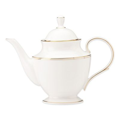 Lenox® Federal Gold Teapot in White/Gold